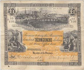 Picture of old Scottish bank note